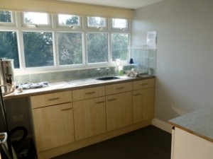 Upstairs kitchenette