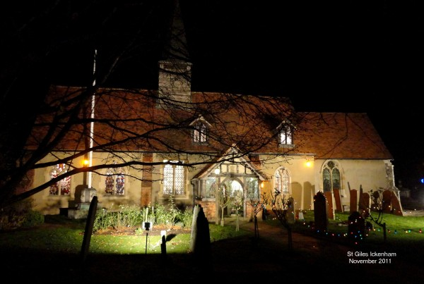 Floodlit St Giles Church